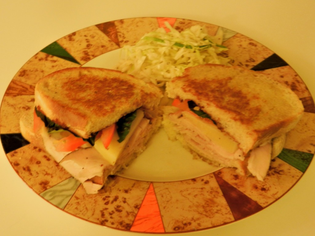 easy grilled cheese and turkey