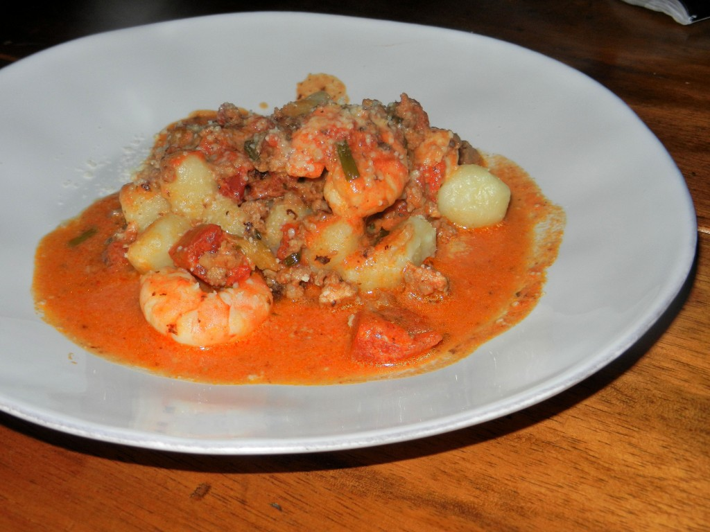 Shrimp and sausage Gnocchi