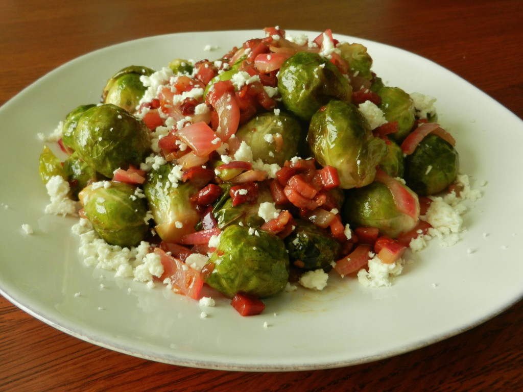 Southwet Roasted Brussels Sprout with Prosciutto