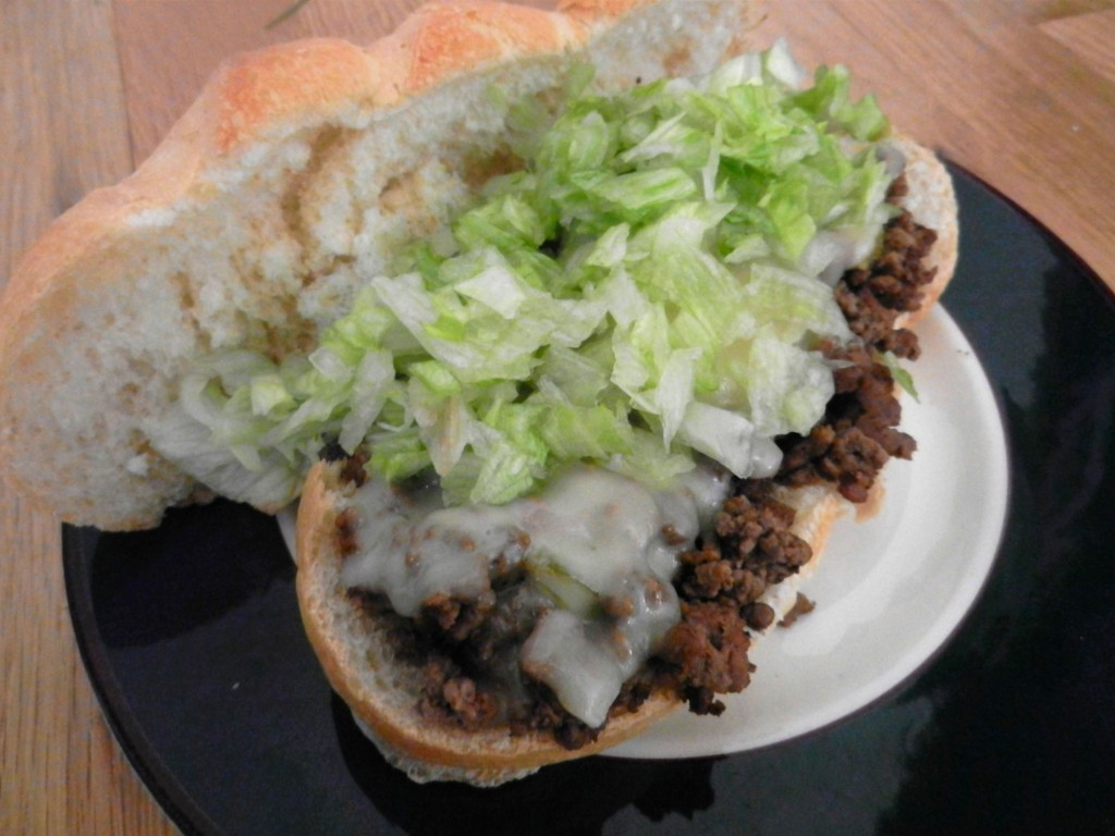 easy taco meat hoagie
