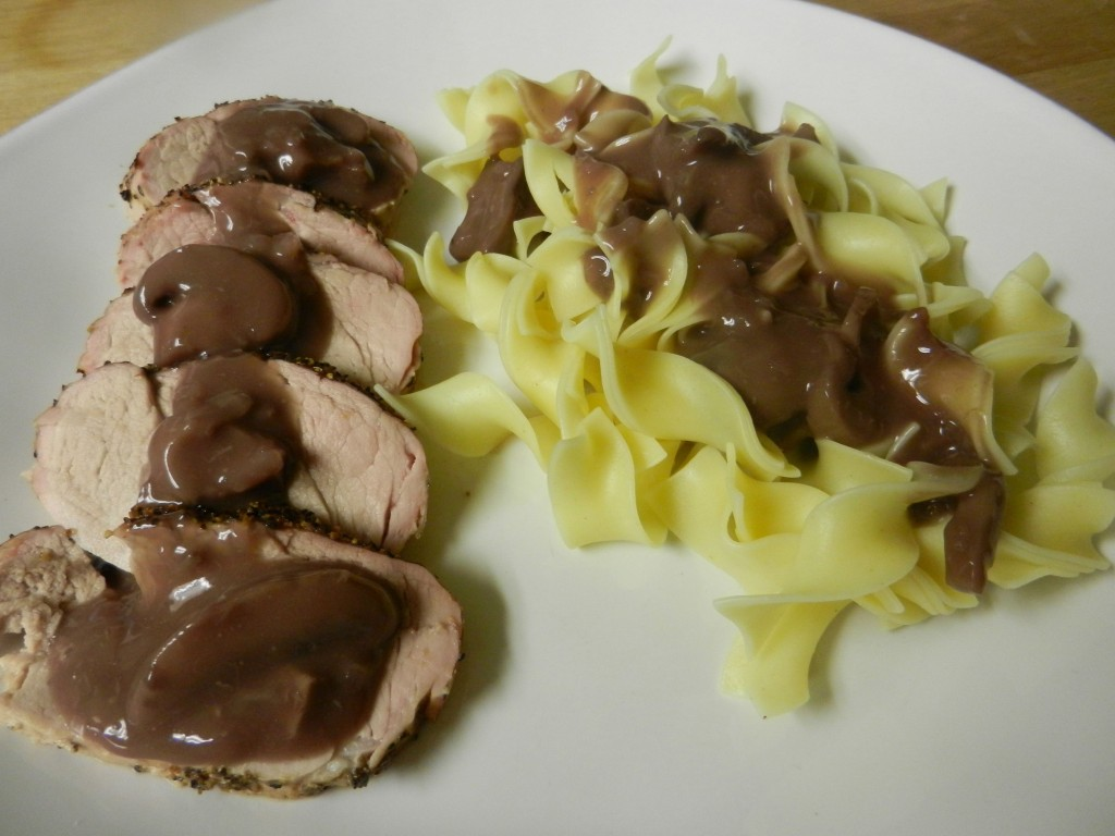 pork medallion with wine mushroom sauce