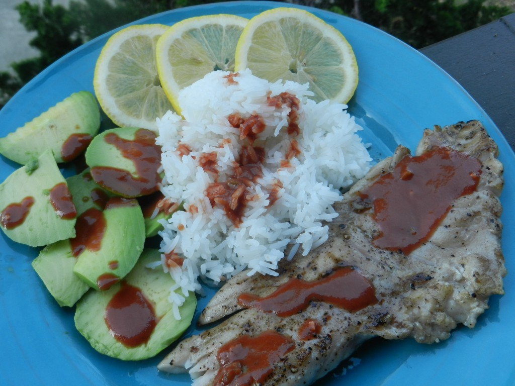 easy BBQ red snapper with hot and sweet sauce